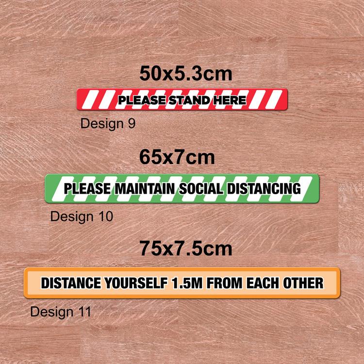 Social Distancing Floor Long Decals